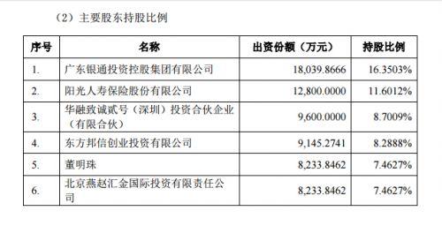 珠海银隆股权结构曝光:董明珠持股7.5% 京东持股2%