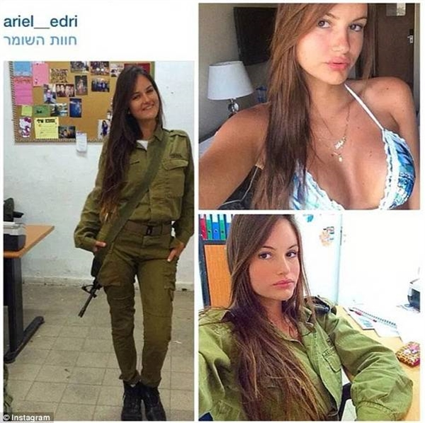 以色列女兵晒比基尼照片走红 网友:想不关注都难